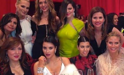 Kim Kardashian at Oscars Party: Photos Galore!
