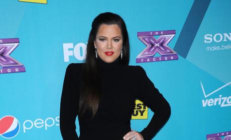 Khloe Kardashian at X Factor Party