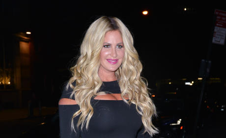 Kim Zolciak in Black