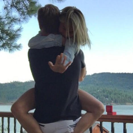 Julianne Hough and Brooks Laitch