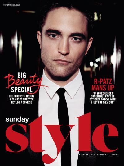 Robert Pattinson on Sunday Style