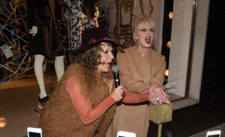 Jennifer Saunders and Joanna Lumley: Stella McCartney Christmas Lights