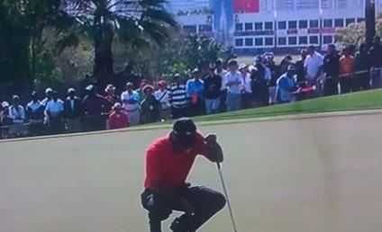 Tiger Woods Fined For Green-Spitting Incident