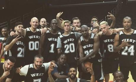 Justin Bieber Shows off Basketball Skills
