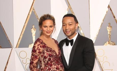 John Legend and Chrissy Teigen: 2016 Academy Awards