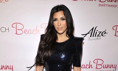 Kim Kardashian Sequined Mini Beach Bunny Swimwear