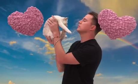 Channing Tatum Says 8 Mean Things to a Cat
