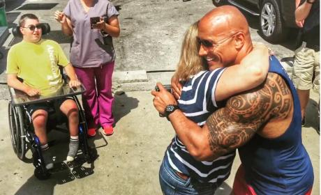 Dwayne Johnson Meets Special Needs Fan and Family