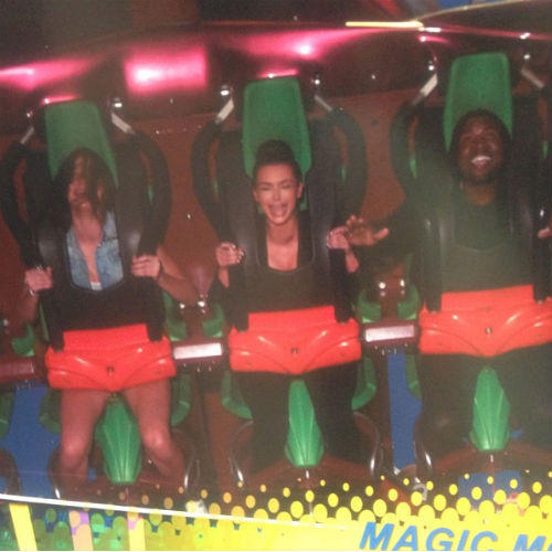 Kim Kardashian on a Roller Coaster