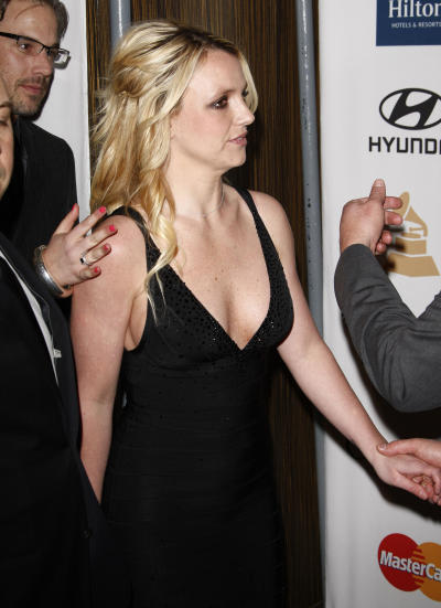 Britney Spears in a Black Dress