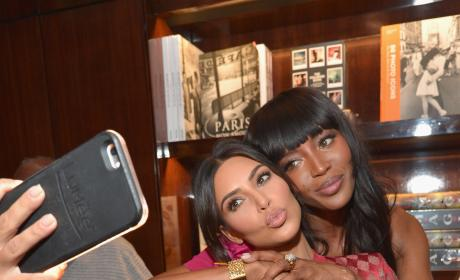 Kim Kardashian Takes a Selfie With Naomi Campbell At Taschen Beverly Hills