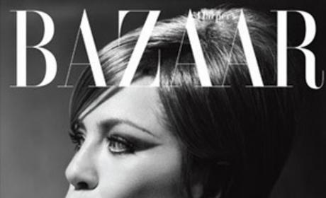 Jennifer Aniston as Barbra Streisand in Harper's Bazaar: A Renaissance Woman