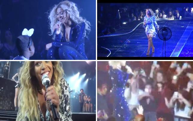 Beyonce dances with cancer patient