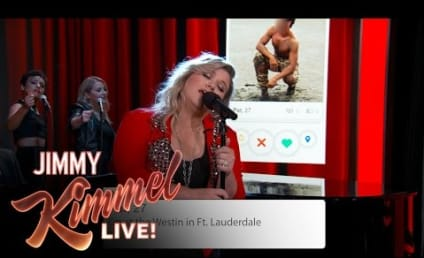 Kelly Clarkson Sings Tinder Profiles on Jimmy Kimmel Live