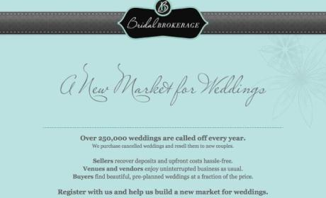 Bridal Brokerage: Company Wants to Buy Your Canceled Wedding!