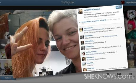 Kristen Stewart Dyes Hair Orange: React Now!