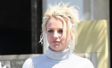 Britney Spears' Church Outfit: Thigh-High Boots, Tight Mini-Dress!