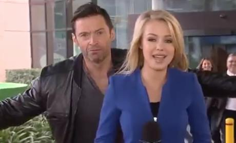 Hugh Jackman Videobombs Live News Report: Watch! Laugh!