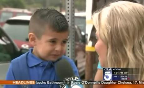 Reporter Asks Kid About First Day of School, Makes Him Cry