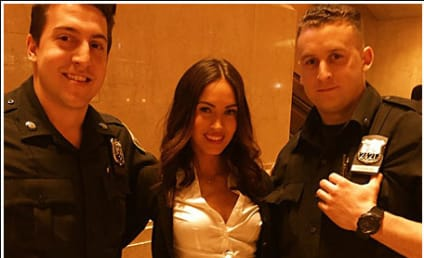 Megan Fox Wears School Girl Uniform, Poses With Cops, Makes Dreams Come True