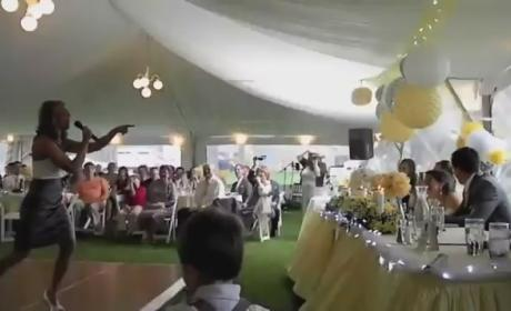 "Maid of Honor Remixes ""Ice Ice Baby"" in Amazing Wedding Speech"