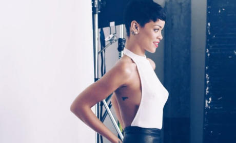Rihanna Gun Tattoo Photo
