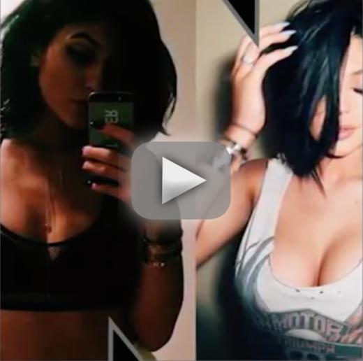Kylie jenner shoots down boob job rumors