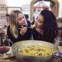 Ashley Benson & Shay Mitchell Share Pasta