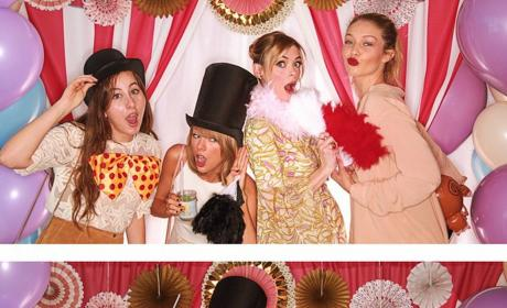 "Taylor Swift Brings ""Whole Team"" to Jaime King Baby Shower"