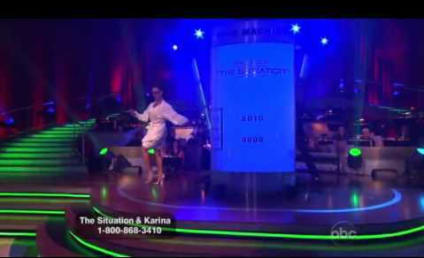 "Odd Situation: Mike and Karina Foxtrot to ""Boom Boom Pow"" on Dancing With the Stars"
