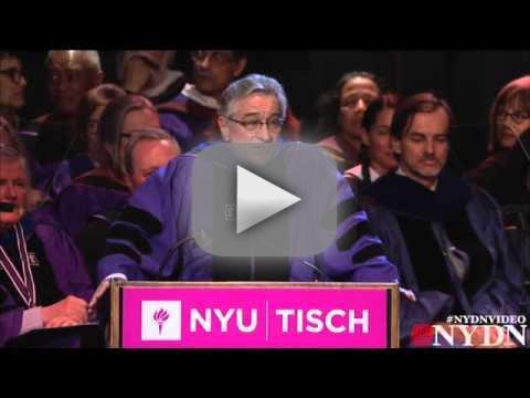 Robert de niro to nyu graduates youre f cked