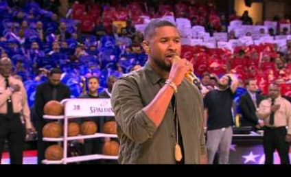 Watch Usher Put Personal Touch on the National Anthem
