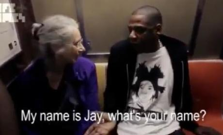 Jay-Z Makes a New Fan On The Subway [VIDEO]
