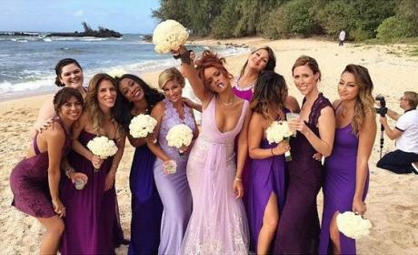 Rihanna as a Bridesmaid