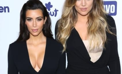 Kim Kardashian Flaunts Crazy Cleavage, Khloe Talks Vaginas on Upfront Red Carpet