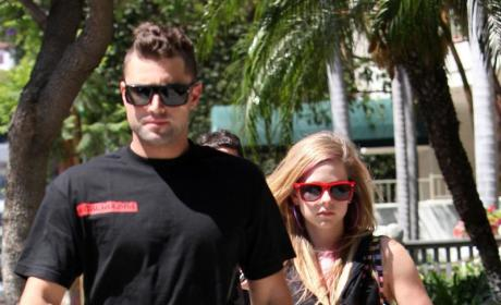 Brody Jenner Tries to Protect Avril Lavigne, Receives Bottle to the Face
