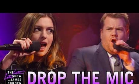 James Corden Drops The Mic On Anne Hathaway's Awful British Accent