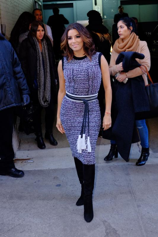 Eva Longoria Stops by Huffington Post