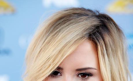 Serious Demi Lovato