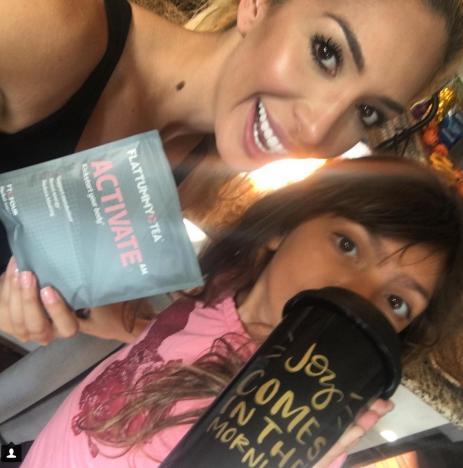 Farrah Abraham and Daughter Tea Photo