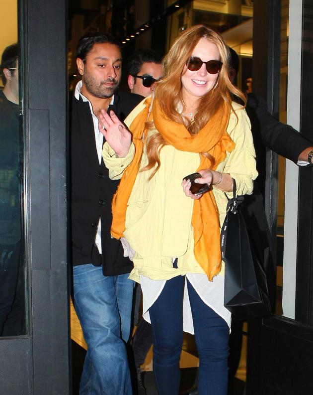Lindsay Lohan and Vikram Chatwal