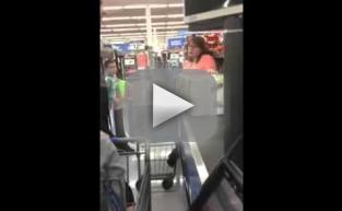 Walmart Shopper GOES OFF on Dad Using Food Stamps