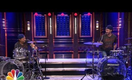Chad Smith Takes on Will Ferrell in Tonight Show Drum-Off: Who Won?!?