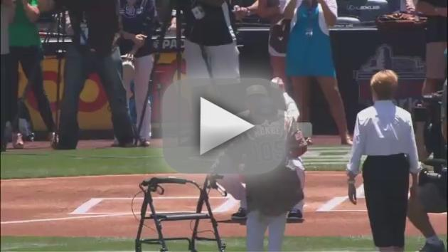 105-Year Old First Pitch