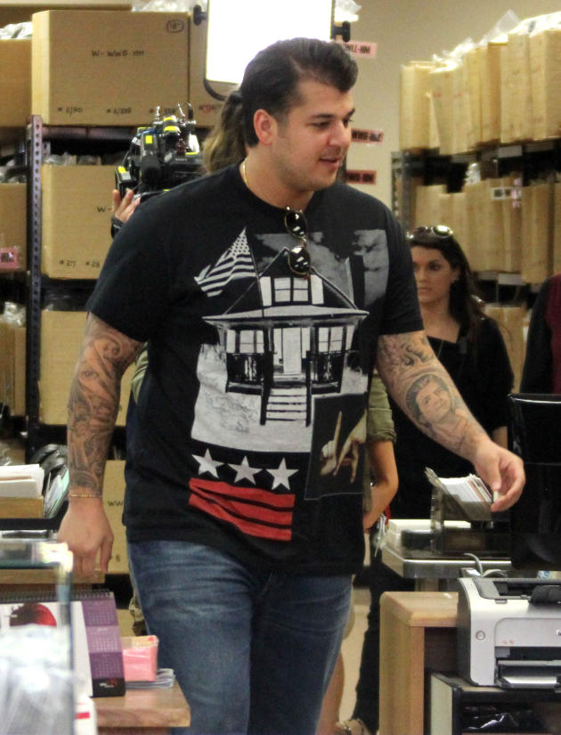 Fat Rob Kardashian Photo