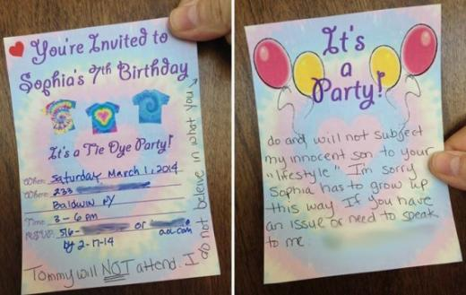 Birthday Party Invite Response