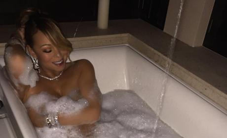 Mariah Carey: Nude in a Bathtub