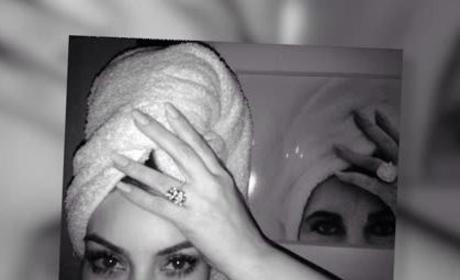 Kim Kardashian Poses Like Elizabeth Taylor