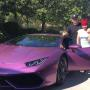 Blac Chyna and Rob Kardashian with Lambo