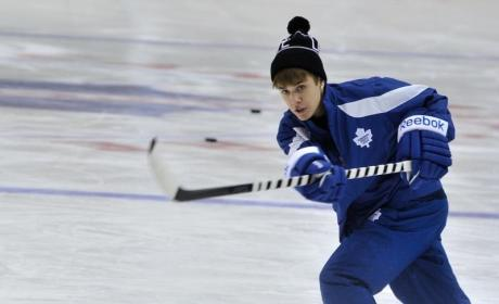 Justin Bieber, Hockey God: Pop Star Scores SICK Goal! Watch and Be Amazed!